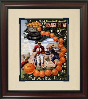 Clemson 1951 Orange Bowl Historic Football Program Cover