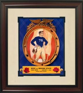 1942 Duke vs. Oregon State Historic Football Program Cover