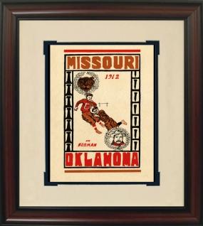 1912 Missouri vs. Oklahoma Historic Football Program Cover