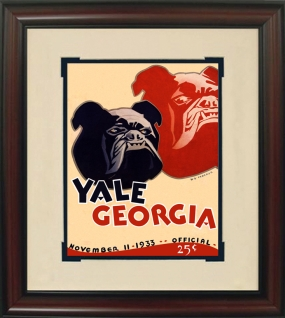 1933 Georgia vs. Yale Historic Football Program Cover
