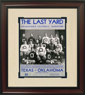 1932 Oklahoma vs. Texas Historic Football Program Cover
