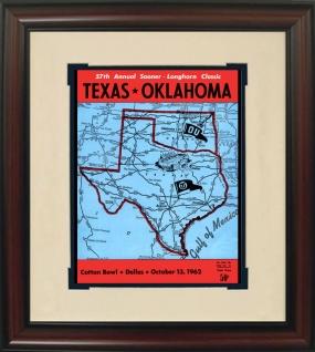 1962 Texas vs. Oklahoma Historic Football Program Cover