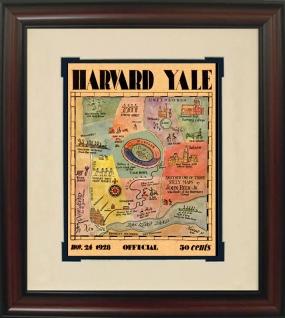1928 Yale vs. Harvard Historic Football Program Cover