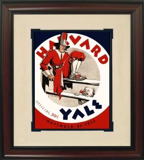 1934 Yale vs. Harvard Historic Football Program Cover
