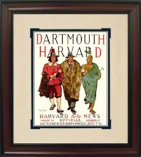 1928 Harvard vs. Dartmouth Historic Football Program Cover