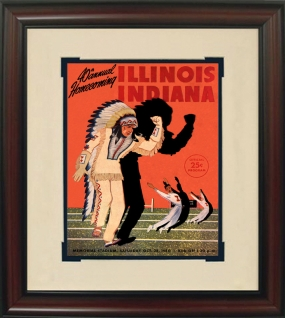1950 Illinois vs. Indiana Historic Football Program Cover