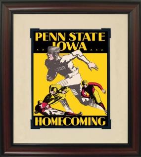 1930 Iowa vs. Penn State Historic Football Program Cover