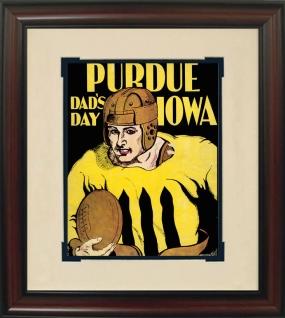 1930 Iowa vs. Purdue Historic Football Program Cover
