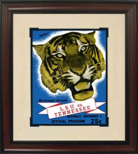 1939 LSU vs. Tennessee Historic Football Program Cover
