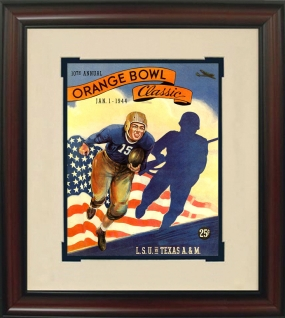1944 LSU vs. Texas A&M Historic Football Program Cover