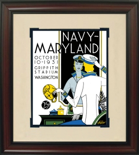 1931 Maryland vs. Navy Historic Football Program Cover