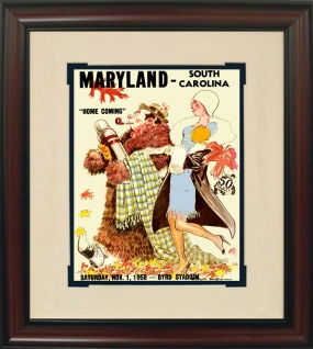 1958 Maryland vs. South Carolina Historic Football Program Cover
