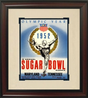 1952 Maryland vs. Tennessee Historic Football Program Cover