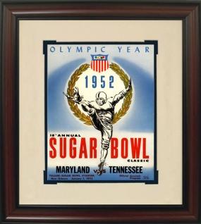 Tennessee 1952 Sugar Bowl Historic Football Program Cover