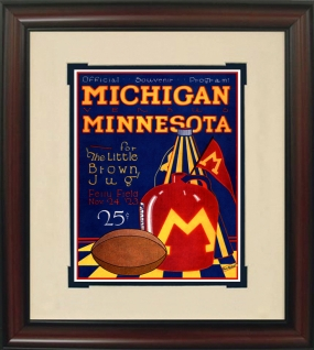 1923 Michigan vs. Minnesota Historic Football Program Cover