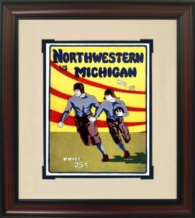 1924 Northwestern vs. Michigan Historic Football Program Cover