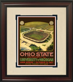 1927 Michigan vs. Ohio State Historic Football Program Cover