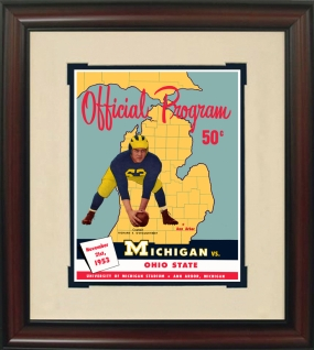 1953 Michigan vs. Ohio State Historic Football Program Cover