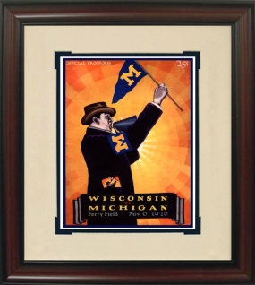 1926 Michigan vs. Wisconsin Historic Football Program Cover