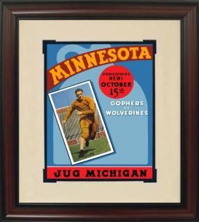 1938 Minnesota vs. Michigan Historic Football Program Cover