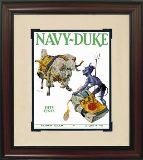 1944 Duke vs. Navy Historic Football Program Cover