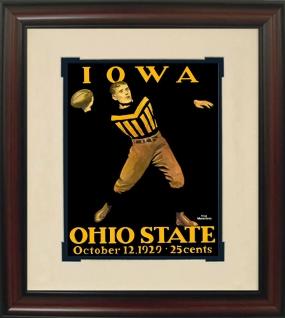 1929 Iowa vs. Ohio State Historic Football Program Cover