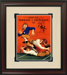 Tennessee 1939 Orange Bowl Historic Football Program Cover