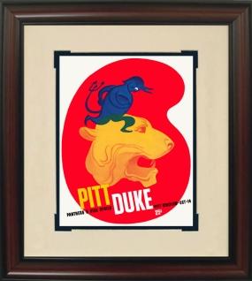 1939 Pittsburgh vs. Duke Historic Football Program Cover