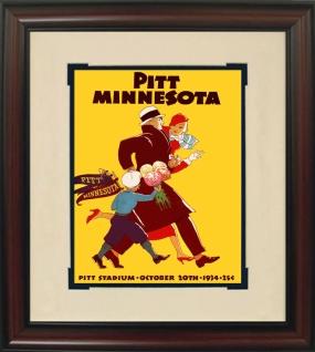 1934 Pittsburgh vs. Minnesota Historic Football Program Cover