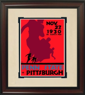 1930 Penn State vs. Pitt Historic Football Program Cover