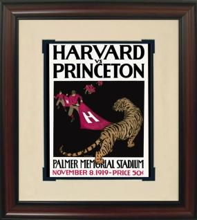 1919 Princeton vs. Harvard Historic Football Program Cover
