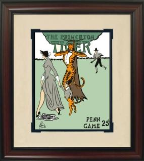 1938 Princeton vs. Penn Historic Football Program Cover