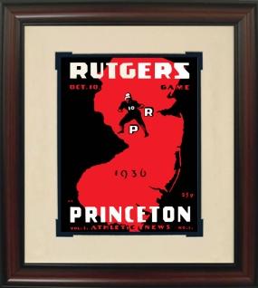 1936 Princeton vs. Rutgers Historic Football Program Cover