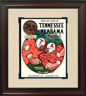 1968 Tennessee vs. Alabama Historic Football Program Cover