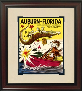 1961 Auburn vs. Florida Historic Football Program Cover