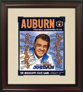 1975 Auburn vs. Mississippi State Historic Football Program Cover