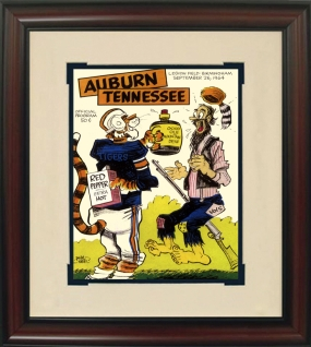1964 Auburn vs. Tennessee Historic Football Program Cover