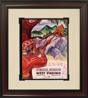 1955 West Virgina vs. Penn State Historic Football Program Cover