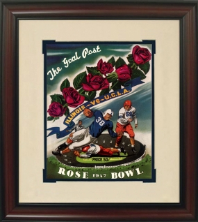 Illinois 1947 Rose Bowl Historic Football Program Cover