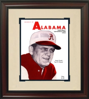 Alabama 1958 Season Opener Press Guide Historic Football Program Cover