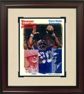 1981 Alabama vs. Penn State Historic Football Program Cover