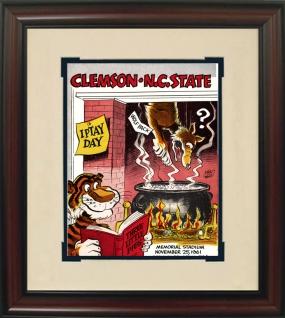 1961 Clemson vs. N.C. State Historic Football Program Cover