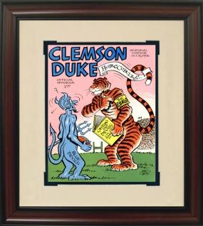 1976 Clemson vs. Duke Historic Football Program Cover