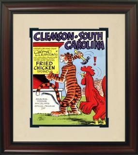 1976 Clemson vs. South Carolina Historic Football Program Cover