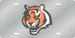 Cincinnati Bengals Laser Cut Silver License Plate