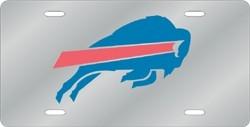 Buffalo Bills Laser Cut Silver License Plate