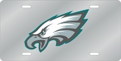 Philadelphia Eagles Laser Cut Silver License Plate