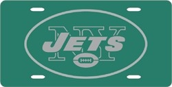 New York Jets Laser Cut Green License Plate