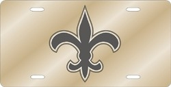 New Orleans Saints Laser Cut Gold License Plate