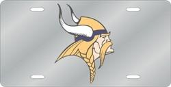 Minnesota Vikings Laser Cut Silver License Plate
